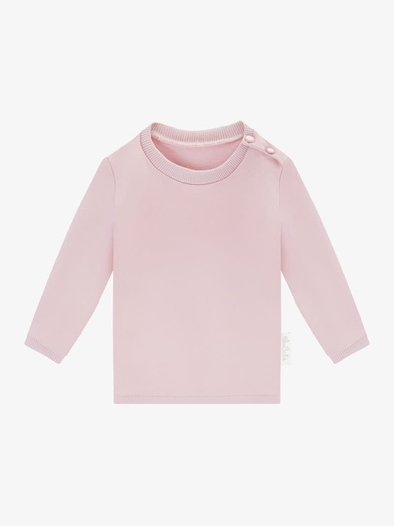 long sleeve basic wear - różowy