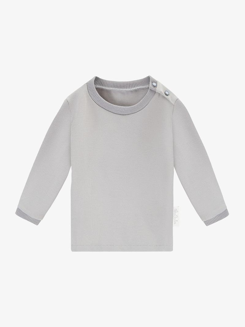 long sleeve basic wear - szary