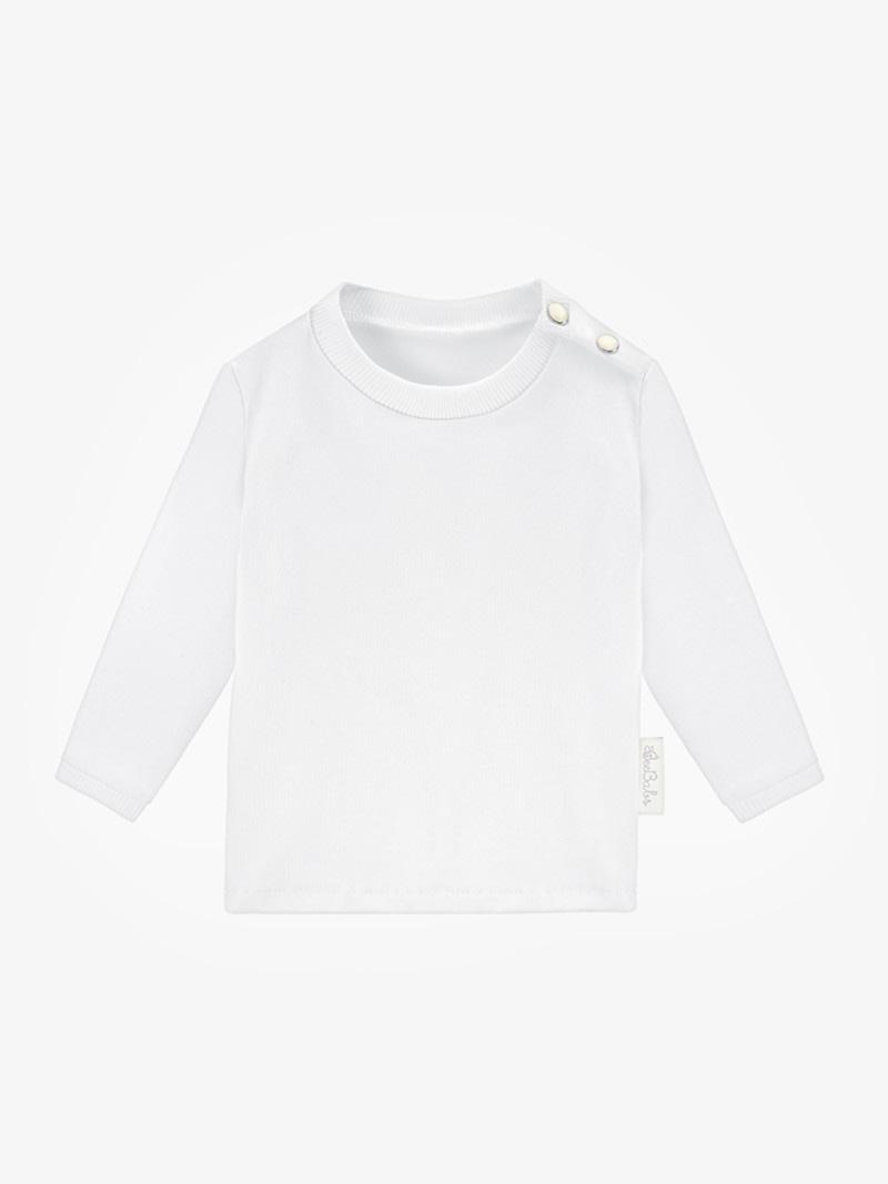 long sleeve basic wear - biały